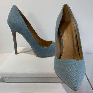 Shoe Republic LA denim pumps size 9